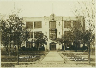 The original Round Rock School after construction