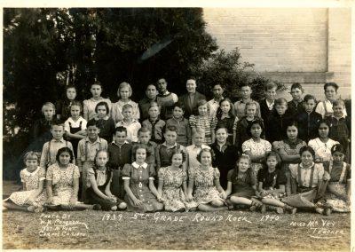 1939-40 5th grade class