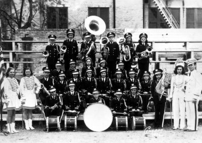 1940-41 Band with teacher Milton Dusek