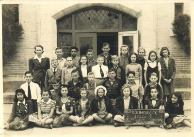 1941-42 7th grade class with teacher Norma Pfluger