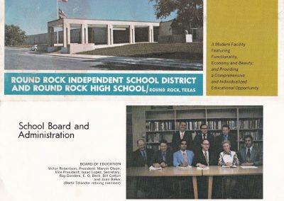 Front and back panel of 1971 promotional brochure