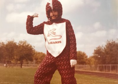 1982 C.D. Fulkes Lizard mascot