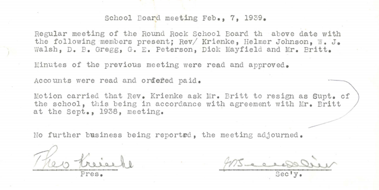 1939 Britt asked to resign
