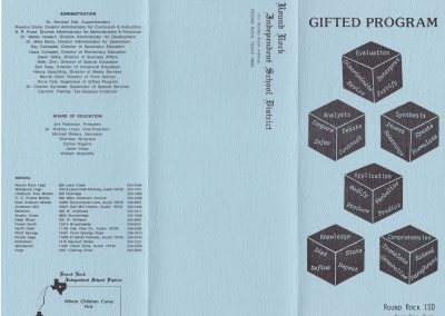 1982-83 Gifted Program Front