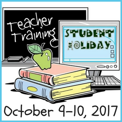 Student Holiday October 9-10