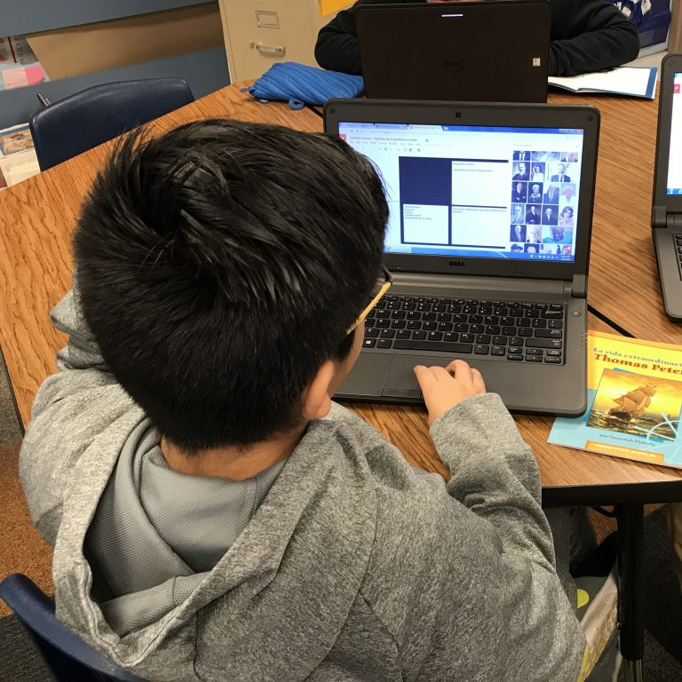 Bluebonnet – Biographies using Google Drawing