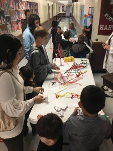 STEAM Challenge table with tallest structure