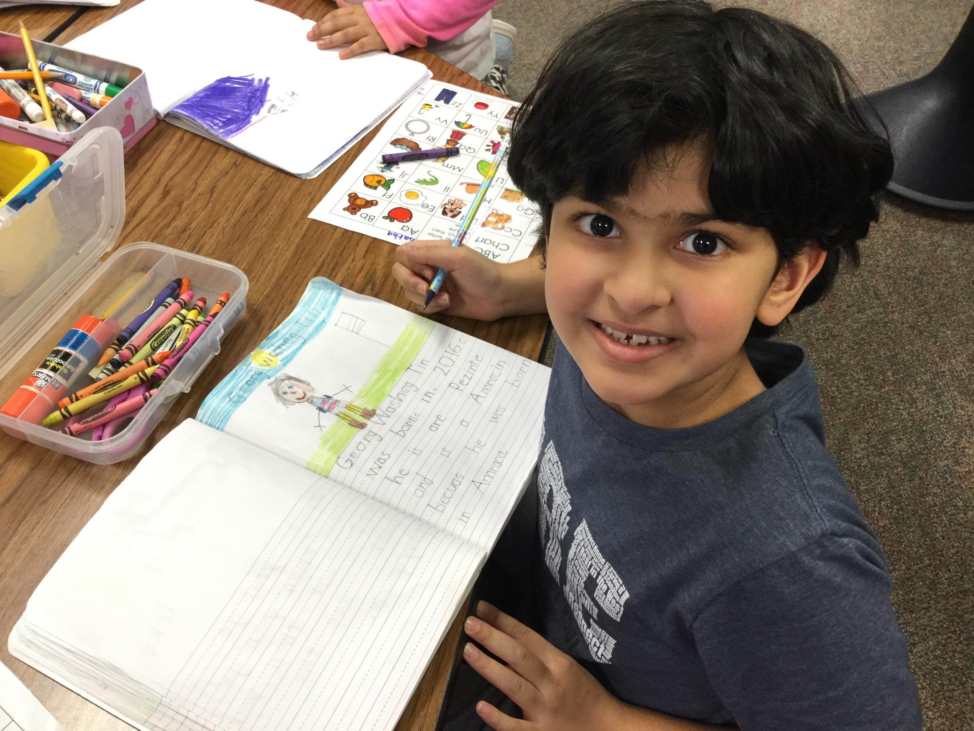 Ms. Flood's Kinder Class Writes Biographies!