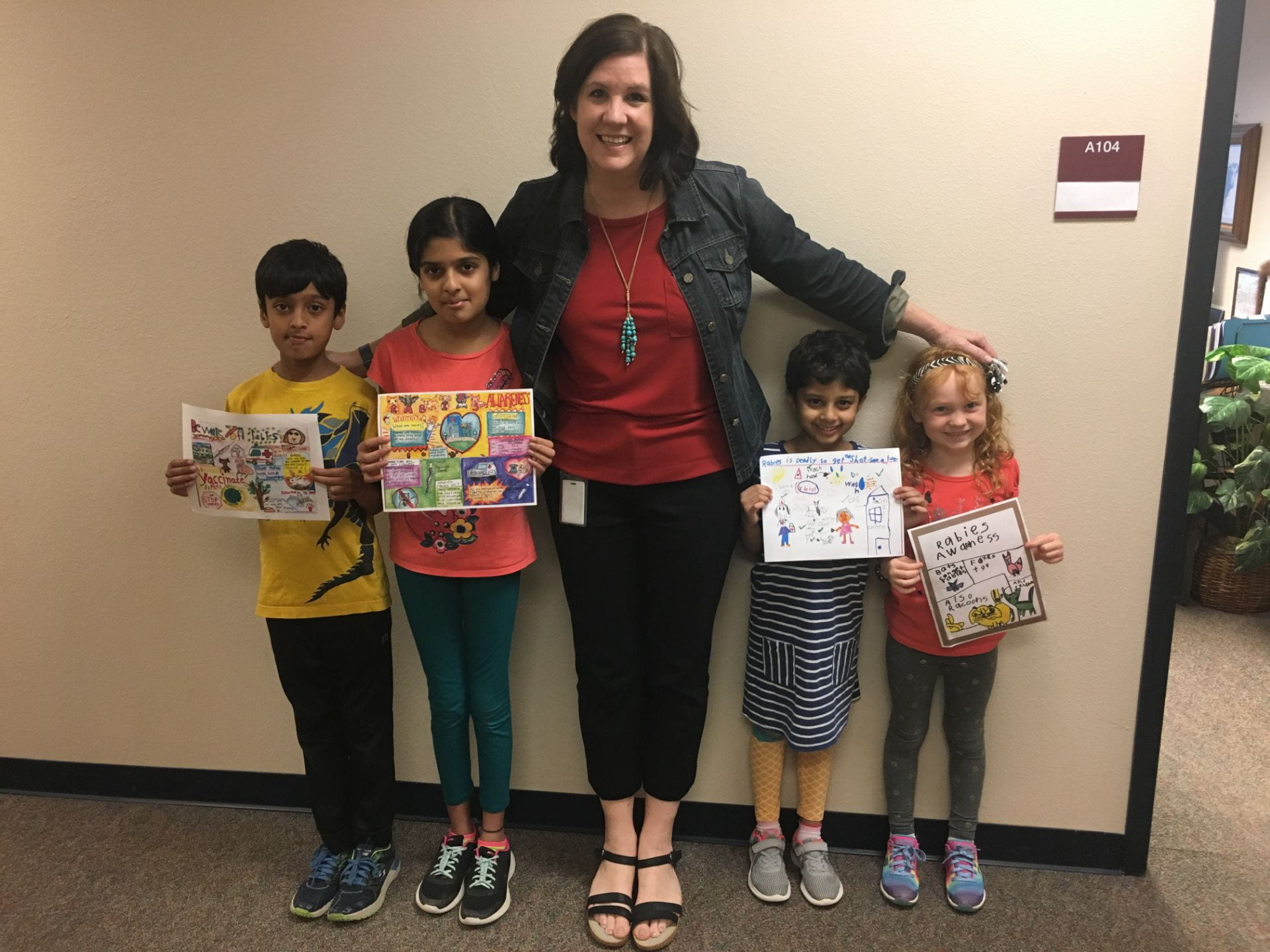 Congratulations to the following Rabies Awareness Poster Contest Winners at Cactus Ranch!
