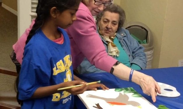 England Ageless Art program teaches students and elderly alike