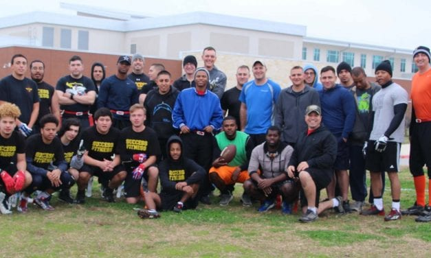 Success students yield victory over Army in flag football