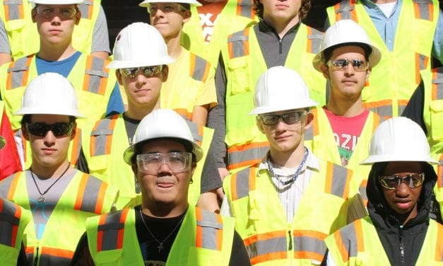 Cedar Ridge construction, architecture students tour active construction site on campus