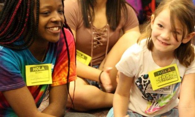 Deerpark students lead Pond Springs language enrichment activities