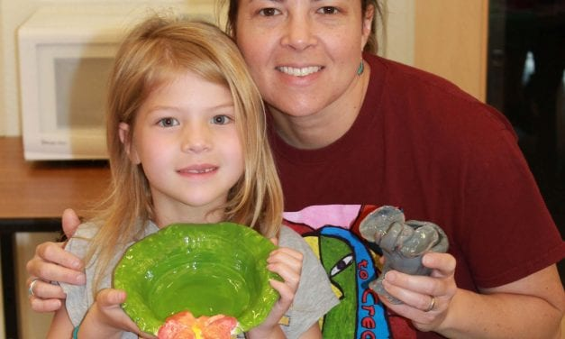 RRISD student art bowls shared with Meals on Wheels