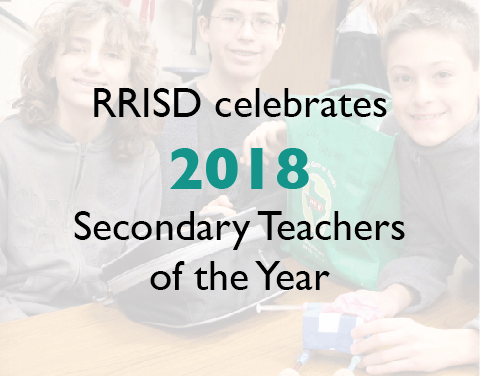 RRISD celebrates 2018 Secondary Teachers of the Year