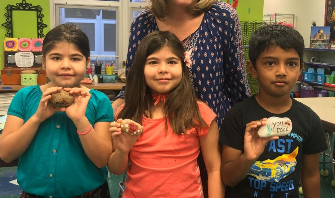 Canyon Creek art students connect worldwide with kindness rocks