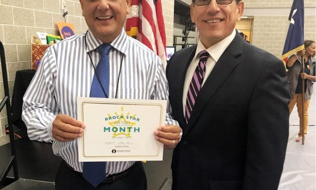 Perez named Superintendent's RRock Star for October