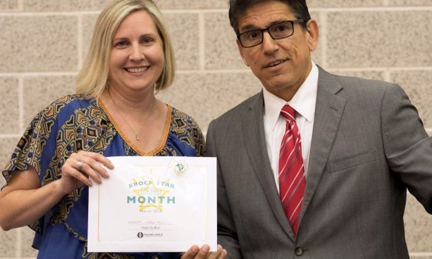 Scallan named Superintendent's RRock Star for March