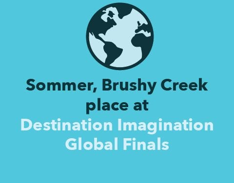 Sommer, Brushy Creek place at Destination Imagination Global Finals