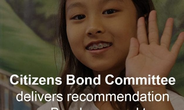 Citizens Bond Committee delivers recommendation on Bond proposal to Board of Trustees