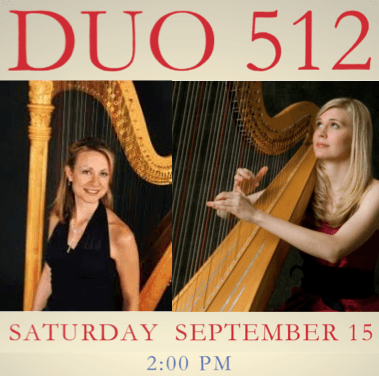 Harp duo perform student scholarship benefit concert