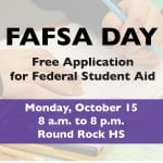Class of 2019 offered FREE FAFSA help at Oct. 15. FAFSA Day