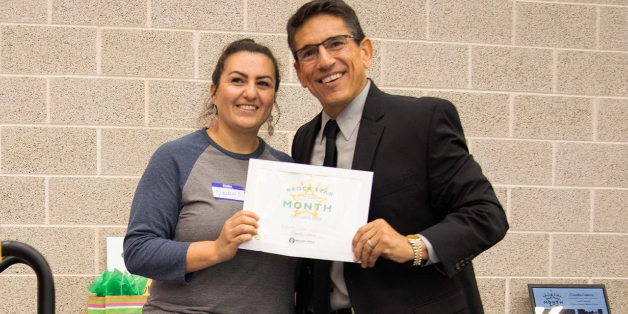 Cadena named Superintendent's RROCK STAR for October