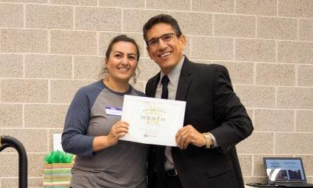 Cadena named Superintendent's RROCK STAR for October