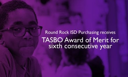 Round Rock ISD Purchasing receives TASBO Award of Merit for sixth consecutive year