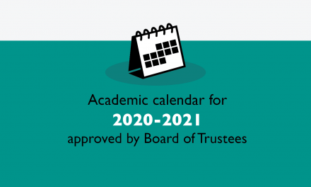 Academic calendar for 2020-2021 approved by Board of Trustees