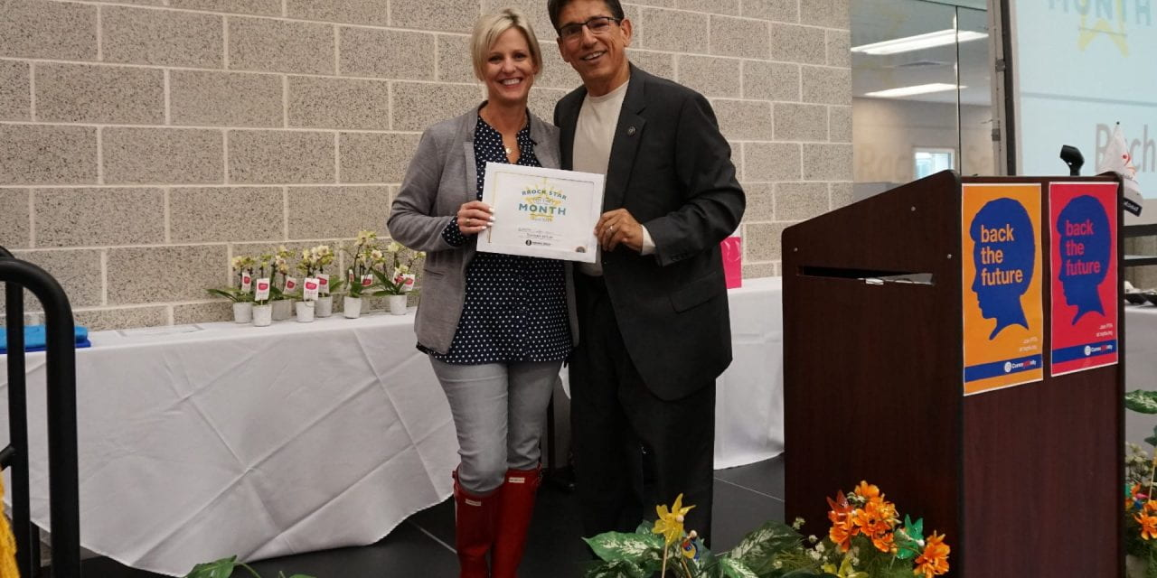 Sefton named Superintendent's  RRock Star for April 2019