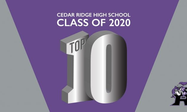 Cedar Ridge High School 2020 Top 10