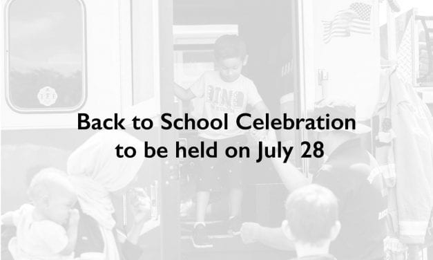 Back to School Celebration to be held on July 28