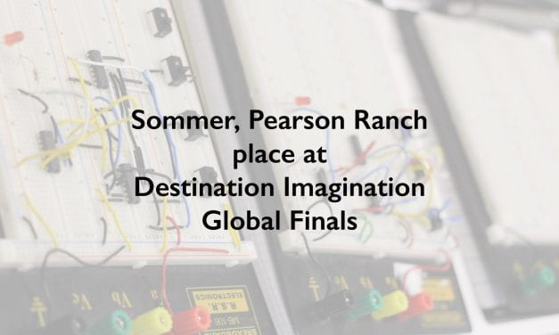 Sommer, Pearson Ranch place at Destination Imagination Global Finals
