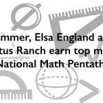 Sommer, Elsa England and Cactus Ranch earn top marks in National Math Pentathlon