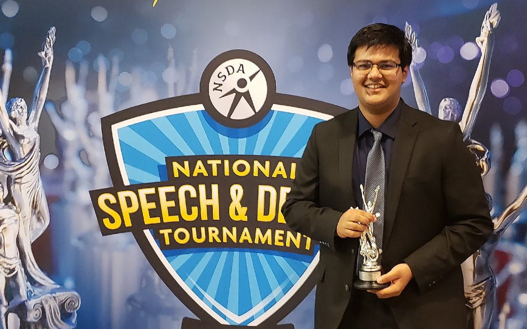 Stony Point junior places in top ten at National Debate Tournament