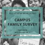 Campus Family Surveys Open January 9