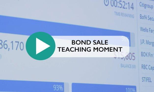Bond Sales Teaching Moment