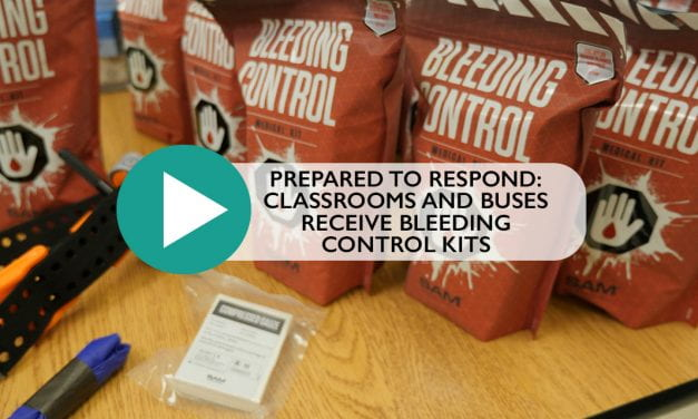 Prepared to Respond: Classrooms and Buses Receive Bleeding Control Kits