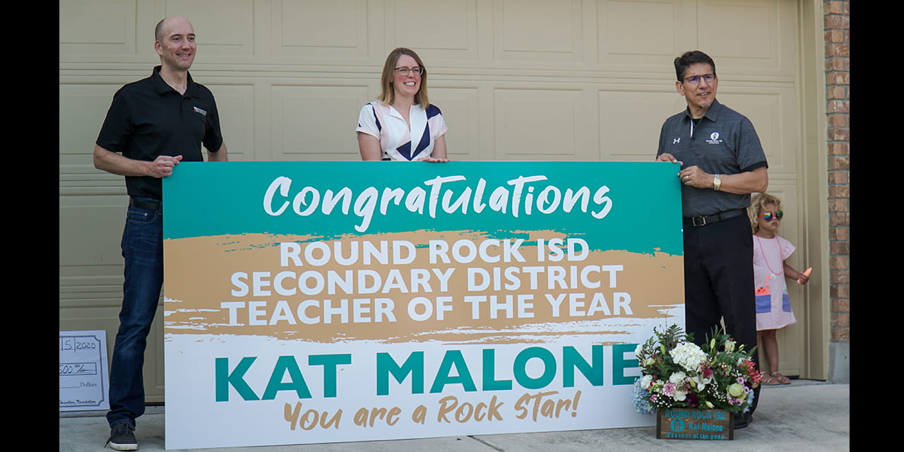 Kat Malone named Round Rock ISD's 2021 Secondary Teacher of the Year