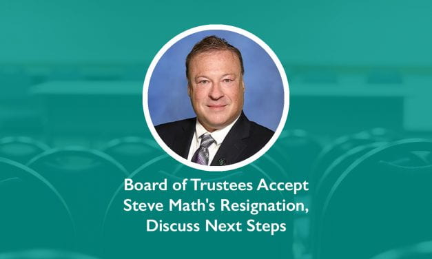 Board of Trustees Accept Steve Math's Resignation, Discuss Next Steps