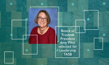 Board of Trustees President Amy Weir selected for Leadership TASB