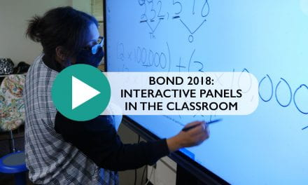 Bond 2018: Interactive Panels in the classroom