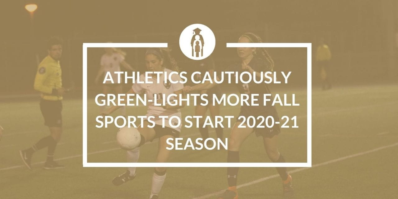 Athletics cautiously green-lights more Fall sports to start 2020-21 season