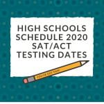 High schools schedule 2020 SAT/ACT test dates