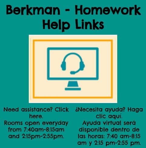 Berkman Homework Help Links.  Need assistance? Click here.
