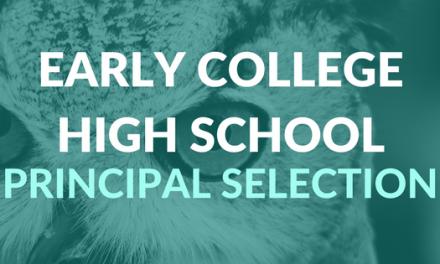 How to Help ECHS Choose a New Principal