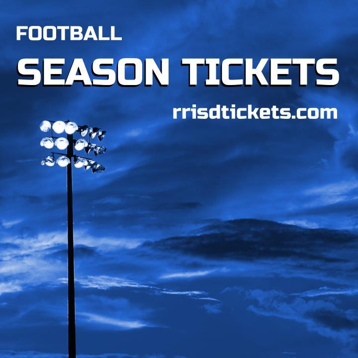 Purchase RRISD Football tickets at https://goo.gl/LC4jCF