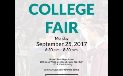 District-wide College Fair: September 25, 2017