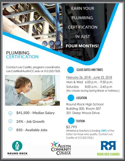 RRISD Career & Technical Education Student Plumbing Certification ...